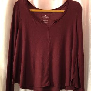 American Eagle long sleeve waffle knit soft & sexy